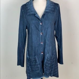 Parsley & Sage blue tie dyed tunic top size small